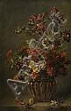 Madeleine Lemaire Les Ares, 1845 - Paris, 1928 Bouquet de fleurs dans un vase godronné Huile sur toile, Madeleine Lemaire, Click for value