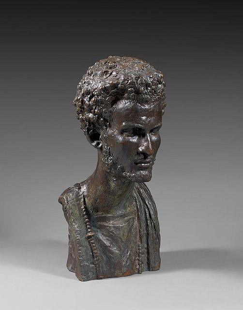 Anna QUINQUAUD (Paris, 1890 - Fontenay-Trésigny, 1984) Portrait d'Ahmed Saloum, fils de l'émir du Trarza