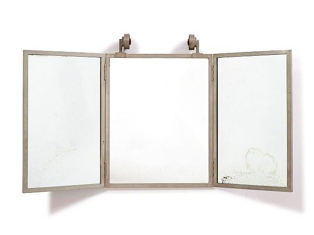 Travail fran ais 1930 1940 miroir triptyque clairant for Miroir eclairant
