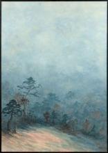 Nasser ASSAR (Né en 1928) SANS TITRE - 1976 Aquarelle et encre sur papier marouflé sur toile