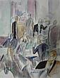 Maurice SAVIN (1894-1973) PAYSAGE ET SCENE DE CAFE Deux aquarelles sur papier, Maurice Louis Savin, Click for value