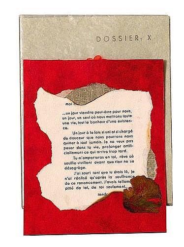 Rose ADLER  Dossier : X Une lettre moins la part du feu