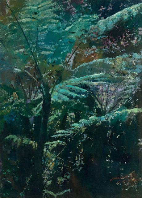 Jacques MAJORELLE 1886 - 1962 Arborescence Huile sur Isorel