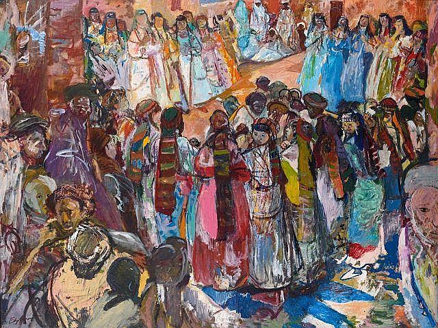 Edy LEGRAND 1892 - 1970 Aouache à Anémiter Huile sur panneau