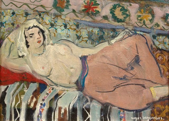 Roger BEZOMBES 1913 - 1994 Odalisque - 1933 Huile sur toile marouflée sur panneau