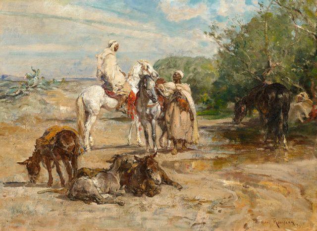 Henri ROUSSEAU 1875 - 1933 La source aux mimosas Huile sur toile