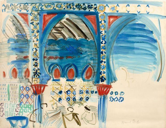 Raoul DUFY 1877 - 1953 Le café maure - 1926 Gouache sur papier