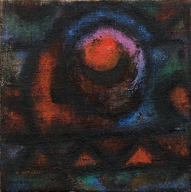 Ahmed CHERKAOUI 1934 - 1967 La Vierge - 1963 Huile sur toile