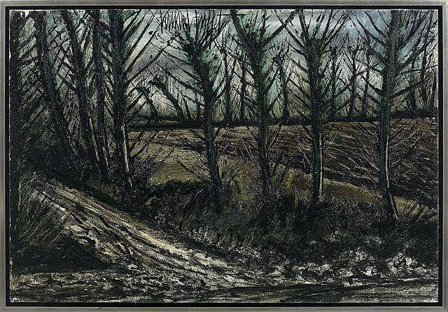 Bernard BUFFET 1928 - 1999 Le chemin et le champ labouré - 1975 Huile sur toile