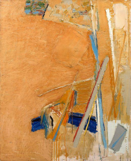 Shafic ABBOUD 1926 - 2004 Composition - 1973 Huile sur toile