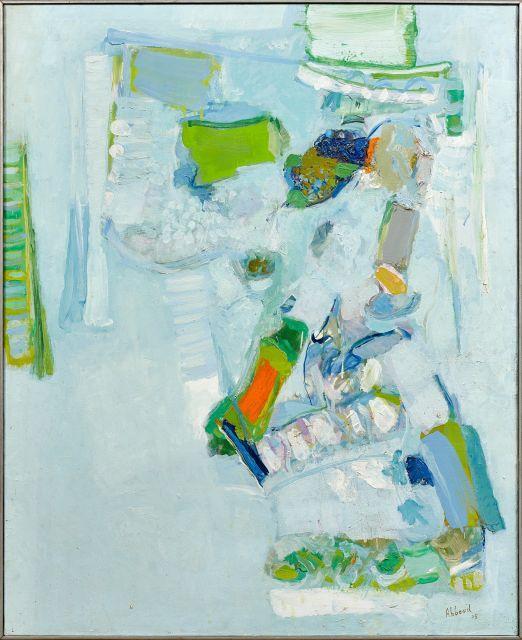 Shafic ABBOUD 1926 - 2004 La deuxième fleur - 1975 Huile sur toile