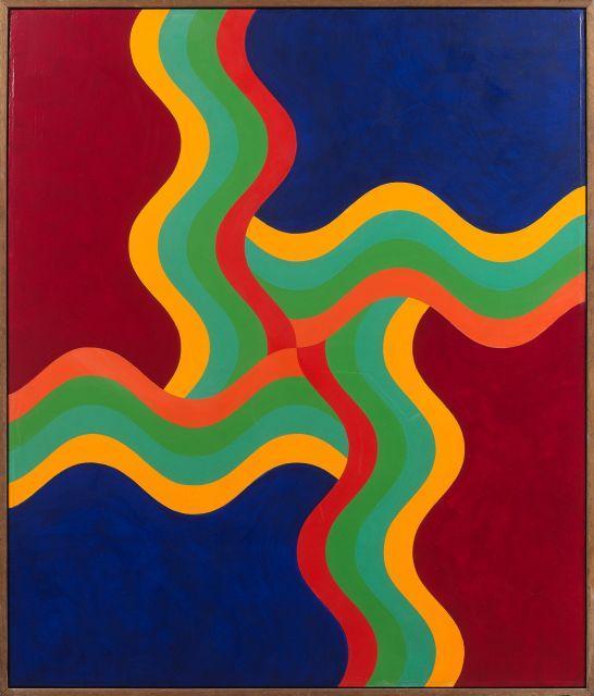 Mohamed MELEHI Né en 1936 Composition - 1970 Acrylique sur panneau