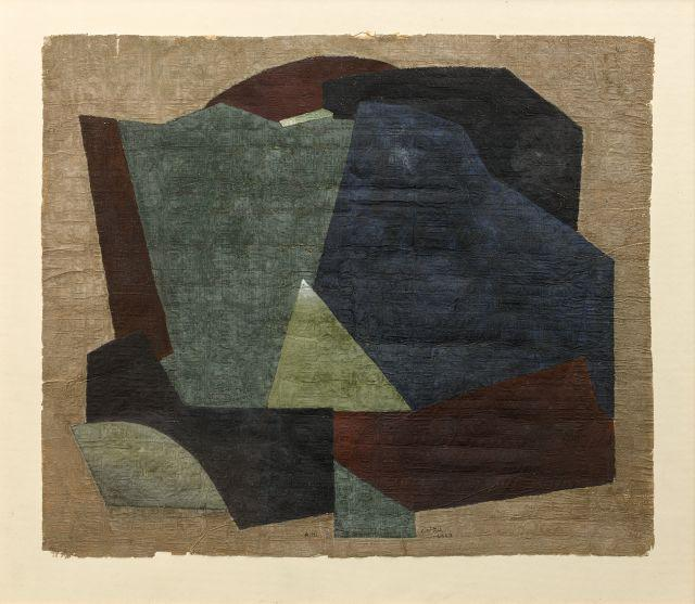 Adam HENEIN Né en 1929 Terre natale - 1989 Pigments et gomme arabique sur papyrus