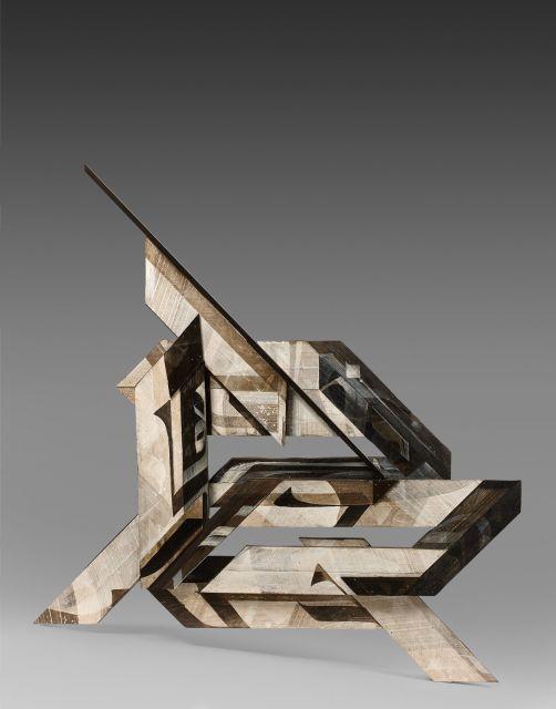 ZEPHA (Vincent Abadie Hafez dit) Né en 1977 Kunstwollen - 2015 Acrylique sur assemblage de bois