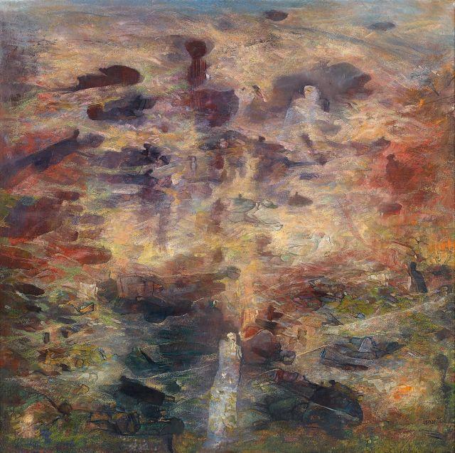 Abdallah BENANTEUR Né en 1931 Odyssée - 1994 Huile sur toile