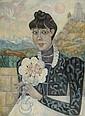 Marie VASSILIEFF (1884-1957) PORTRAIT DE NANA WINDING, 1945 Huile sur toile, Marie Vassilieff, Click for value