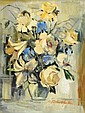 Boris PASTOUKHOFF (1894 - 1974) BOUQUET DE LYS ET ROSES BLANCHES Huile sur toile, Boris Ivanovič Pastuchov, Click for value