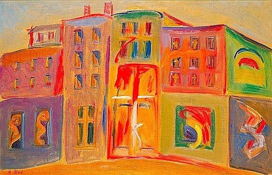 Maurice BLOND (1899-1974) LES AFFICHES Huile sur toile