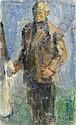 Zygmund SCHRETER (1886-1977) AUTOPORTRAIT Huile sur carton, Zygmund Schreter, Click for value