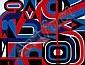 Jean DEWASNE (né en 1921) COMPOSITION EN ROUGE ET BLEU, 1977 Peinture glycerophtalique sur panolaque, Jean Dewasne, Click for value