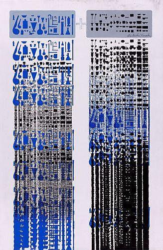 Constantin XENAKIS (né en 1931) C PLUS S, 1972 Acrylique sur toile