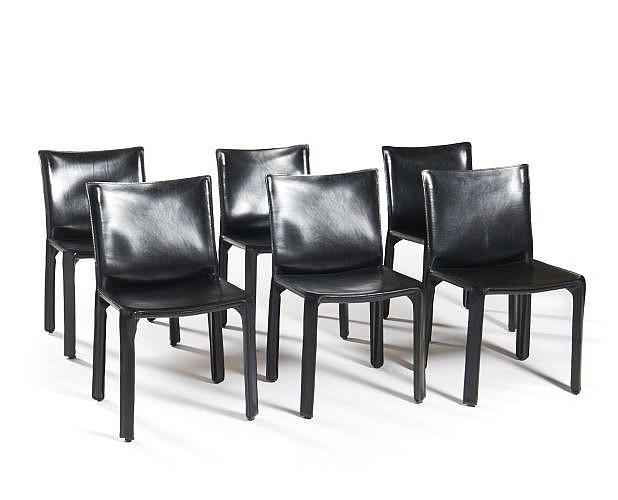 Mario BELLINI (Né en 1935) Suite de six chaises