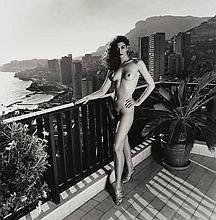 Helmut NEWTON 1920 - 2004 On my terrace, Monte Carlo (Dressed/Naked) - 1990 Diptyque composé de deux épreuves argentiques