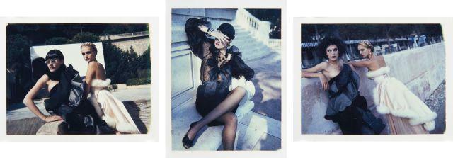 Helmut NEWTON (1920-2004) Women in Monte Carlo, French Vogue 1980''s Trois polaroids d''époque (pièces uniques)