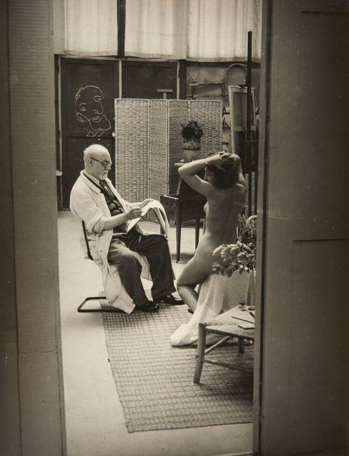 Gyala Halász, dit BRASSAÏ (1899 - 1984) Henri Matisse et son modèle - 1939 Épreuve argentique d''époque