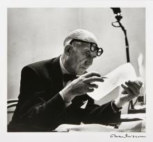 Robert DOISNEAU 1912-1994 Le Corbusier - 1953 Épreuve argentique