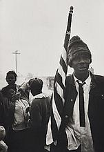 Dennis HOPPER (1936 - 2010) Marche pour les droits civils, Selma to Montgomery, Alabama - 1965 Épreuve argentique sur papier mat