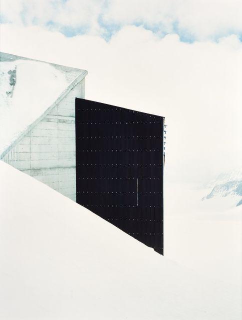 Walter NIEDERMAYR (Né en 1952) Jungfraujoch II - 1998 Diptyque composé de deux épreuves chromogéniques contrecollées sur carton
