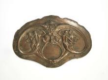 René LALIQUE 1860-1945 «Masque avec couples de tritons» Circa 1893