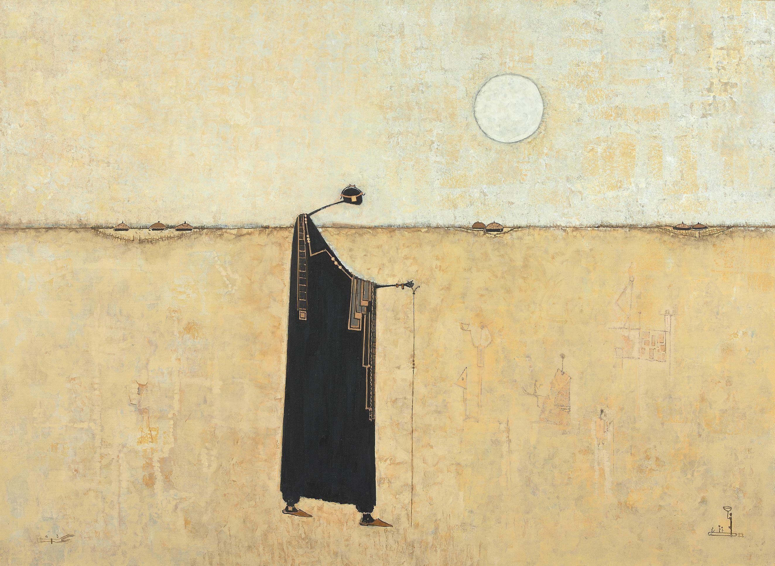 Amadou BÂ né en 1944 - Sénégal Amour, 2008 Technique mixte sur toile