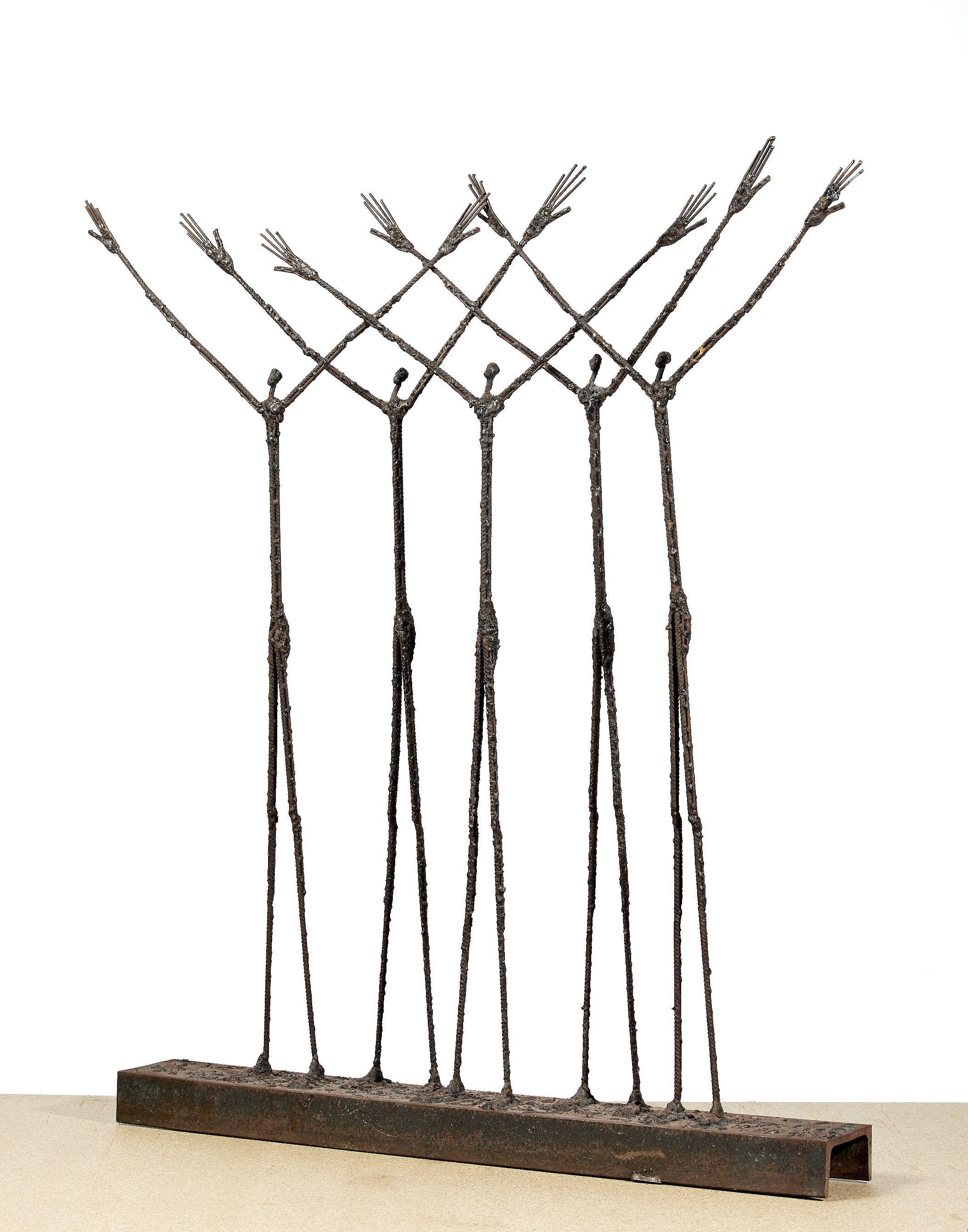 Ndary LÔ 1961-2017 - Sénégal L'Espoir, 2010 Fers à béton soudés et socle en métal