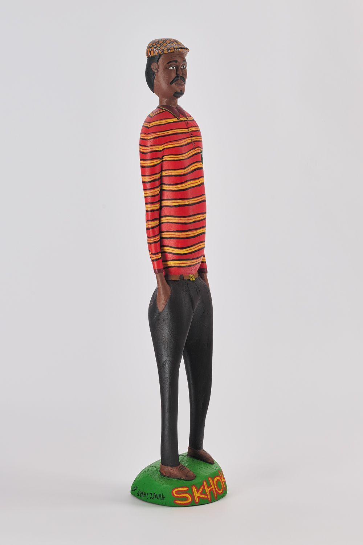 ¤ Isaac ZAVALE né en 1987 - Mozambique Skhoskho, 2020 Bois sculpté et peint