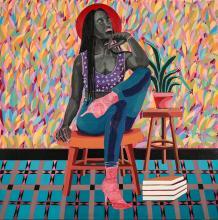 Adolf TEGA né en 1985 - Zimbabwe Sans titre, 2020 Acrylique sur toile