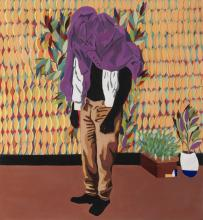 Adolf TEGA né en 1985 - Zimbabwe The blind mind, 2020 Huile sur toile