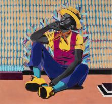 Adolf TEGA né en 1985 - Zimbabwe Uncle Sam, 2020 Huile sur toile
