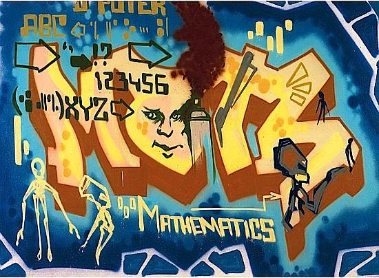 DONDI WHITE (Donald J. White dit) (1961 - 1998) MATHEMATICS, 1984-85 Peinture aérosol sur toile