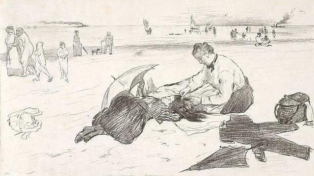 ¤ D'après Edgar DEGAS (Paris, 1834 -1917) SUR LA PLAGE, 1888
