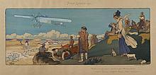GAMY (Présumé Marguerite Montaut)  « Paris-Madrid 1911, Védrines le gagnant sur monoplan Morane-Borel, moteur Gnome, magnéto Bosch,...