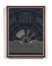 Shepard FAIREY (Alias OBEY GIANT) (Américain - Né en 1970) Sound and vision - 2012 Sérigraphie sur métal