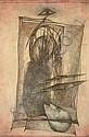 Fred DEUX (né en 1924) LES PROTEGES, 1995 Dessin à la mine de plomb et rehaut d'aquarelle sur papier, Fred Deux, Click for value