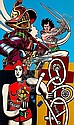 Gudmundur ERRO (né en 1932) LA BICYCLETTE, ( serie Legercomics), 1975 Acrylique sur toile,  Erro, Click for value