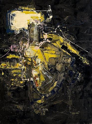 Claude GEORGES (1929 - 1988) COMPOSITION, 1956 Huile sur toile