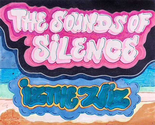 IZ THE WIZ (Michael Martin dit) (1958 - 2009) THE SOUNDS OF SILENCE, 2005 Feutres de couleur sur papier