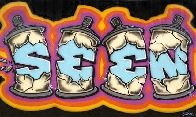 ¤ SEEN (Richard Mirando dit) (né en 1961) GRAFFITI EXPLOSION 2, 1984 Peinture aérosol sur toile