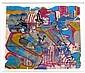 SHUCK ONE (né en 1970) LIVE PARIS, 2007 Peinture aérosol, glycéro et collages sur papier