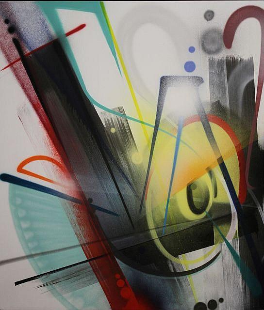 SMASH137 (né en 1979) MALAKID, 2010 Peinture aérosol et acrylique sur toile